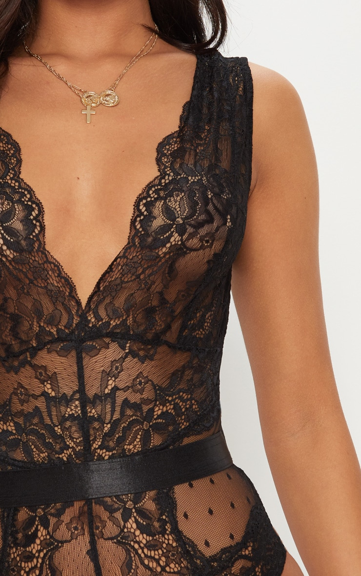 Black Lace Bodysuit 6