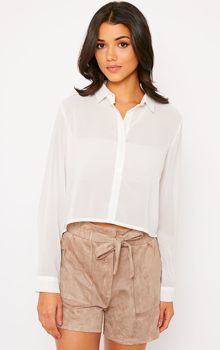 Libby White Cropped Shirt 5