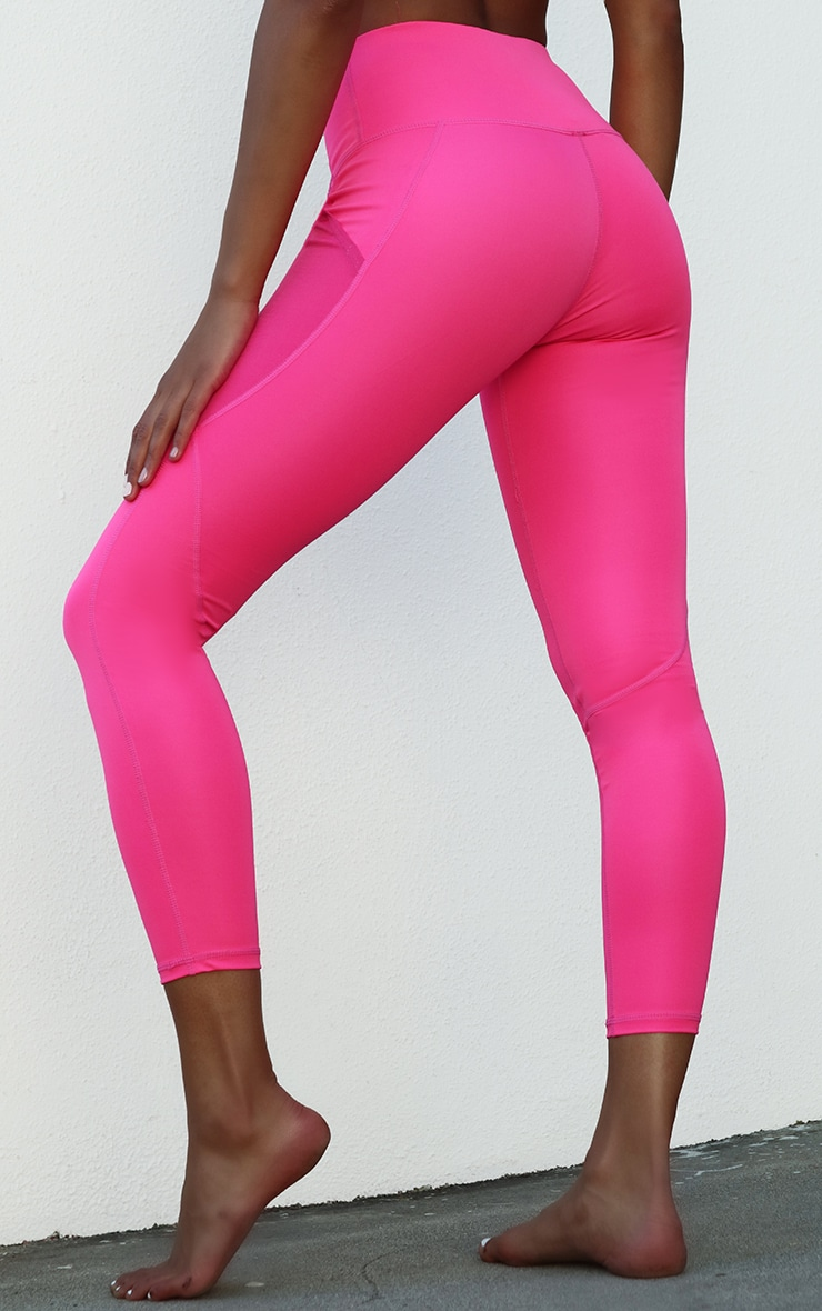 Pink Side Pocket Basic Legging 3