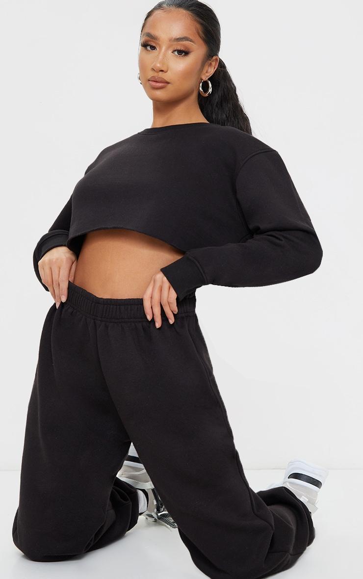 Petite Black Ultimate Cropped Sweater 3