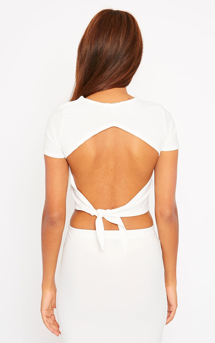 Klarisa Cream Tie Back Top 2