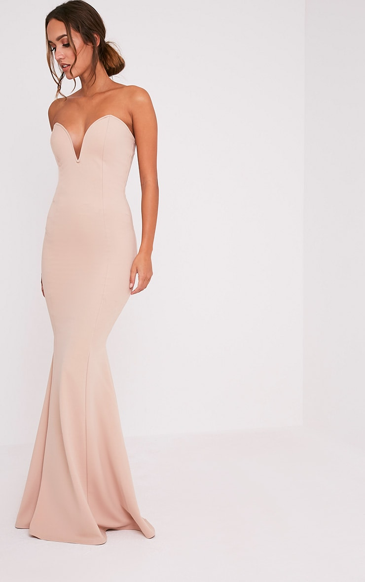Wendie Nude Sweetheart Fishtail Maxi Dress 6