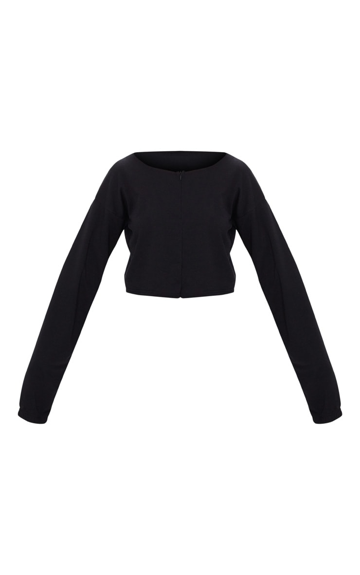 Black Zip Front Sweater  3
