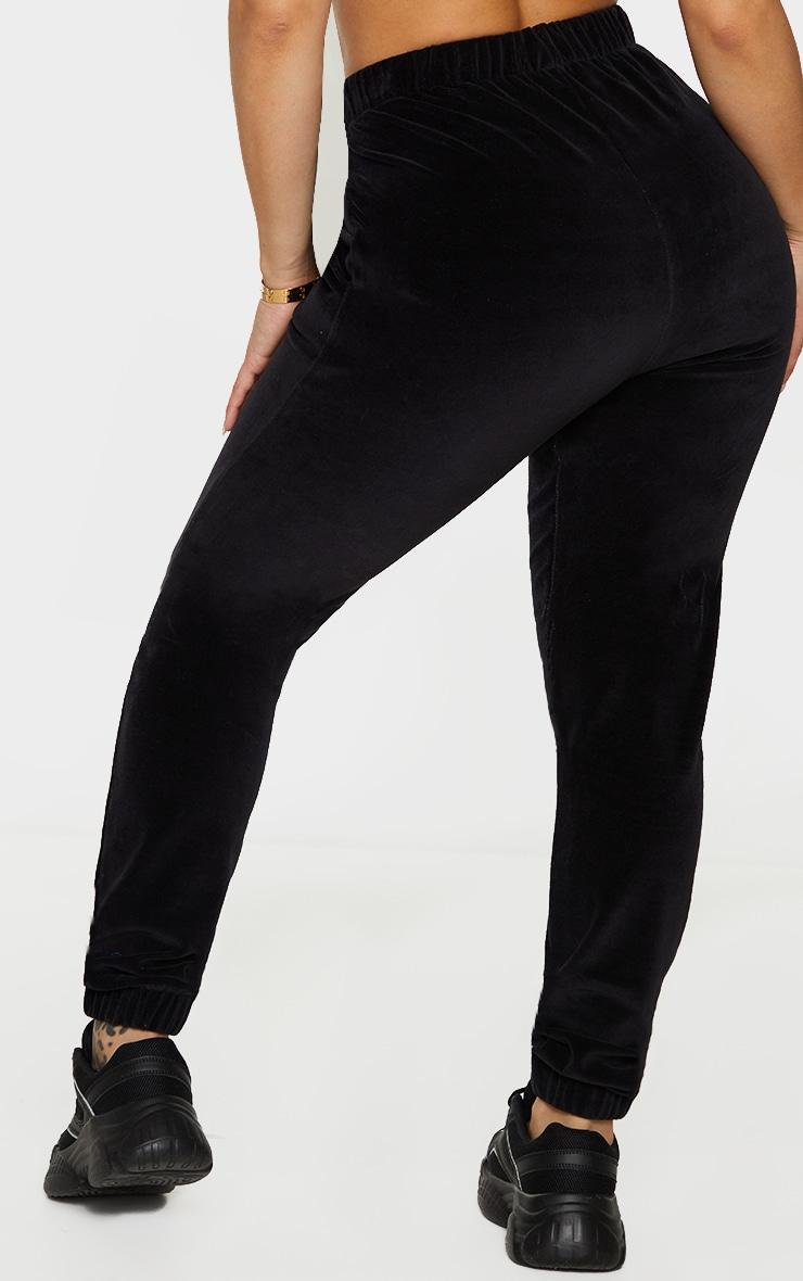 Shape Black Velour Joggers 3