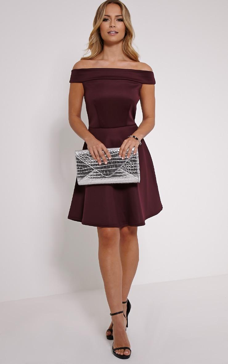 Mona Berry Bardot Skater Dress 3