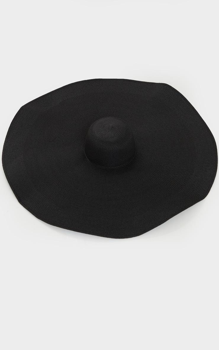 Chapeau de paille oversize noir 2