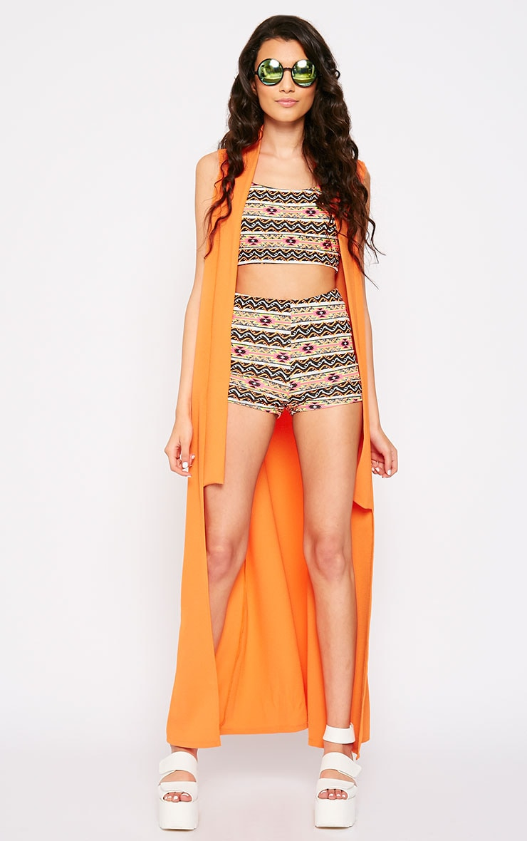Aries Aztec Print Strappy Crop Top 3