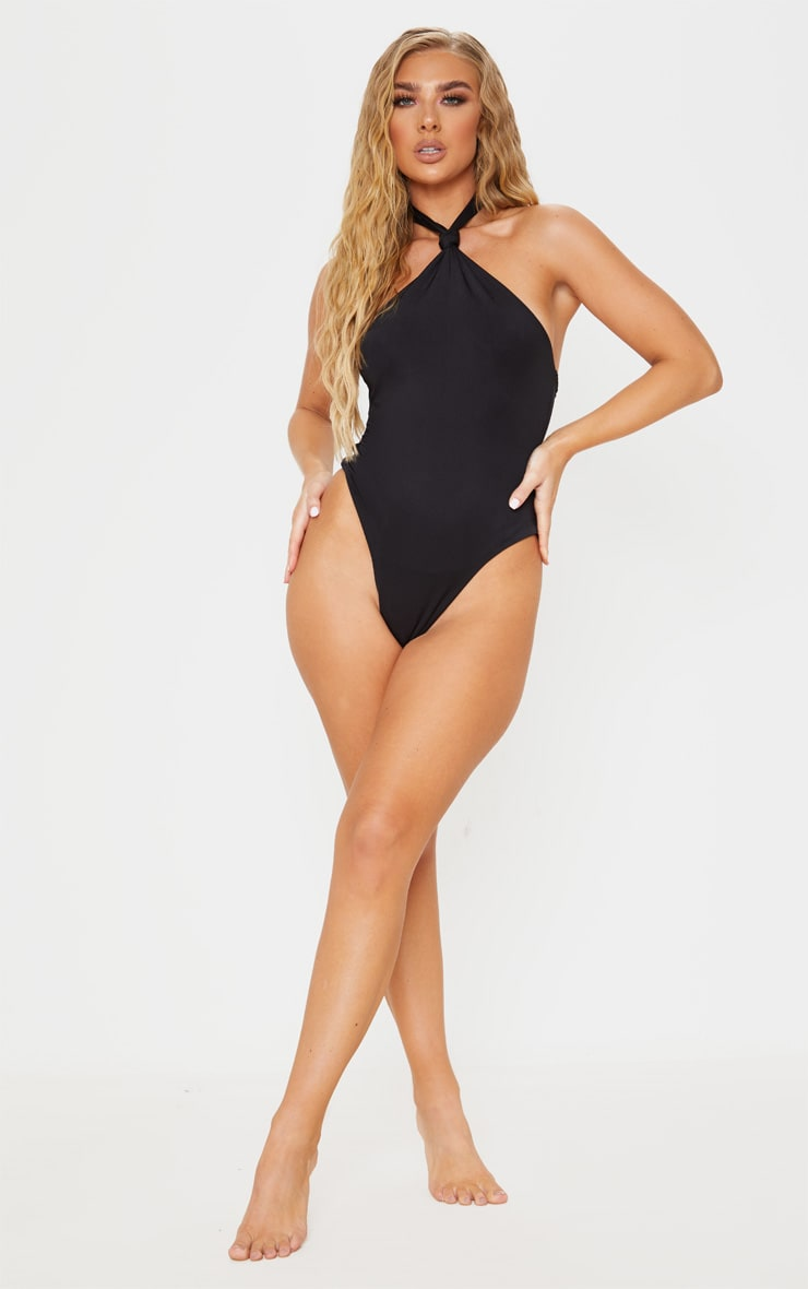 Black Knot Halterneck Swimsuit 5