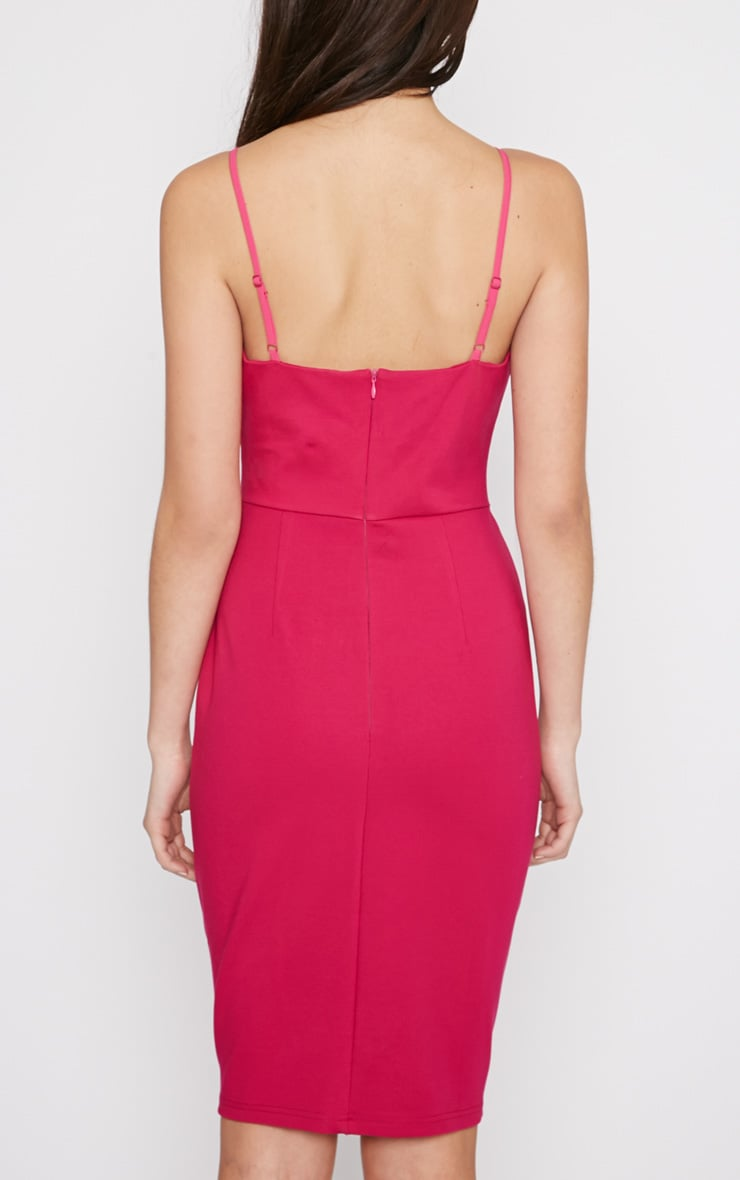 Zoey Hot Pink Strappy Bodycon Dress 2