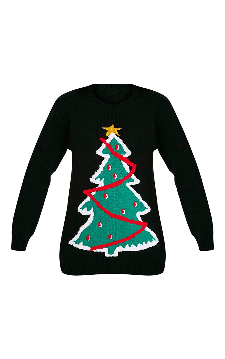 Black Christmas Tree Jumper 3