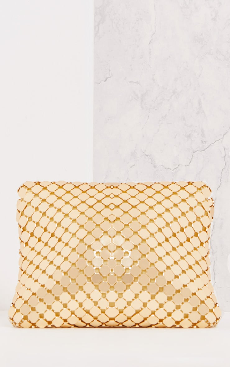 Jolee Gold Chainmail Clutch 3