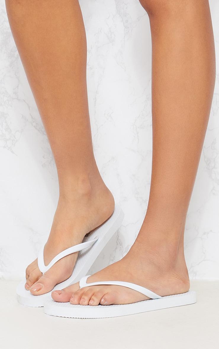 White & Pink Flip Flop 2 Pack 6