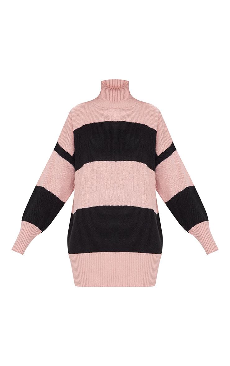 Rose Stripe Oversized Knitted Jumper 3