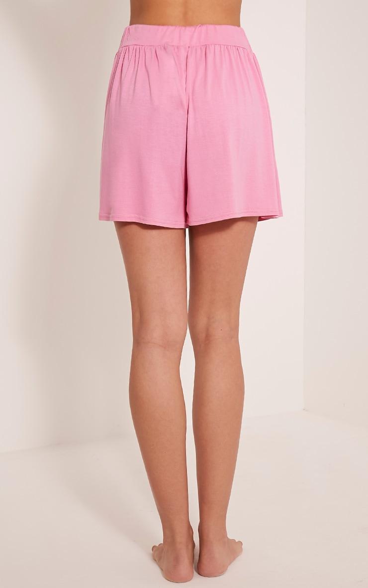 Lucilla Bubblegum Pink Jersey Floaty Shorts 5