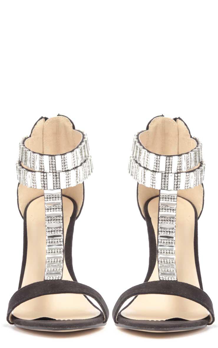Rosie Black Diamante Stiletto Heels 3