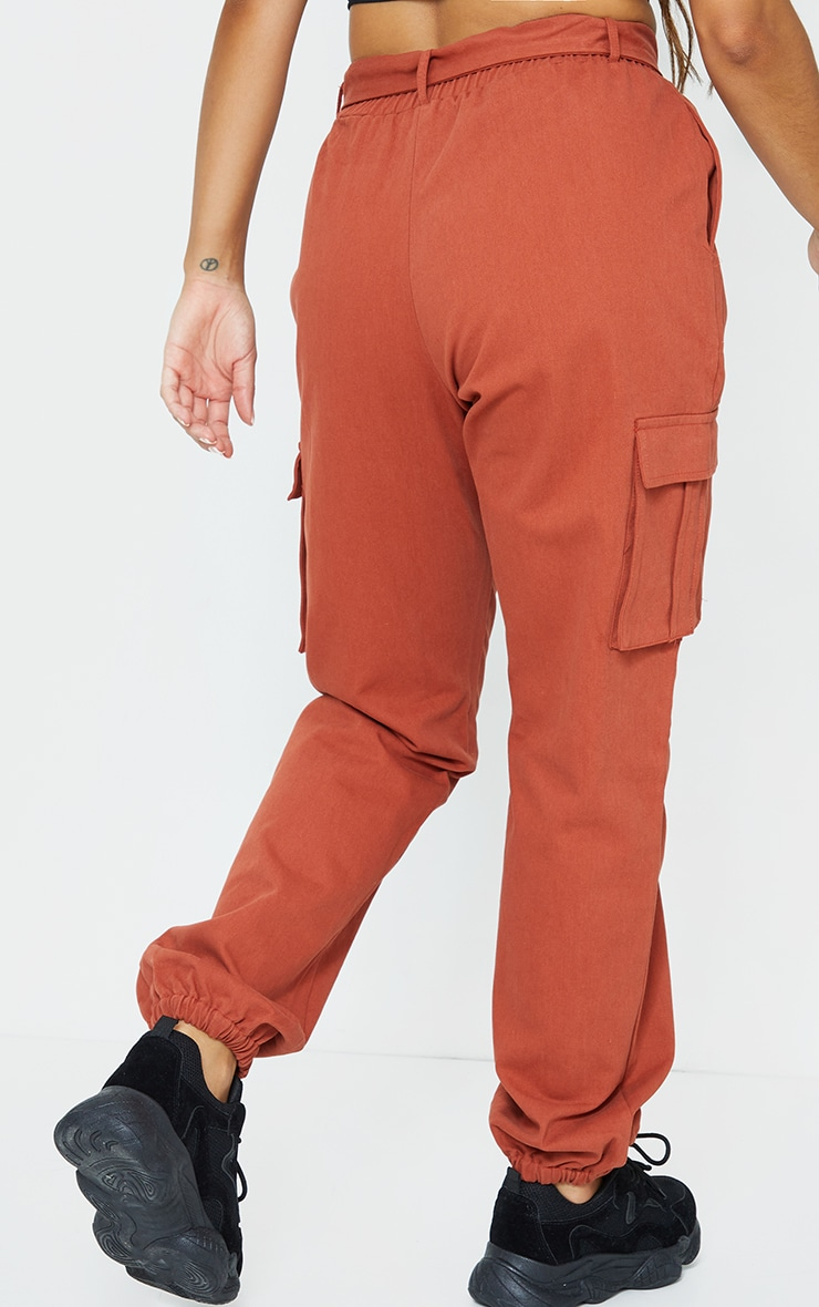 Rust Buckle Detail Cargo Pants 3