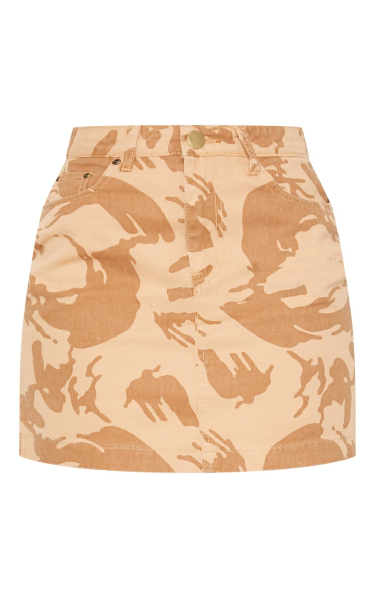 Stone Camo Denim Skirt  3