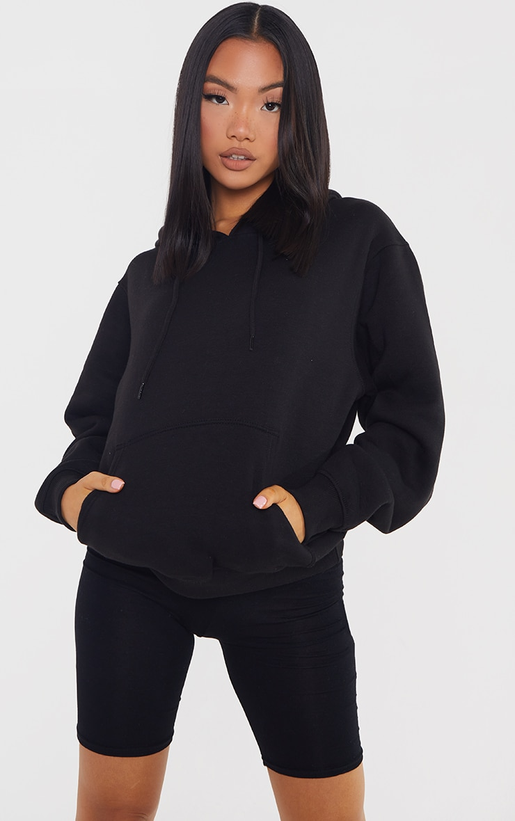 Petite Black Ultimate Oversized Hoodie 1