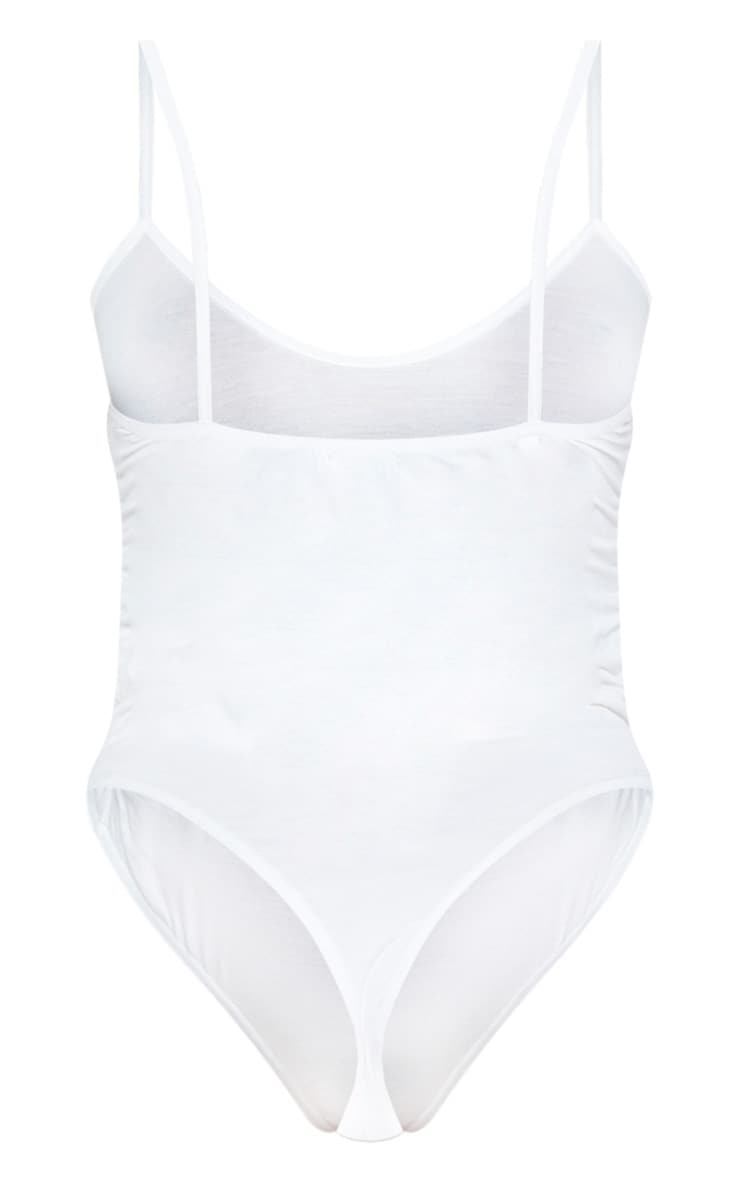 Shape White Jersey Ruched Side Bodysuit 6