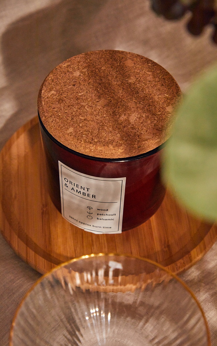 Orient & Amber Scented Glass Jar With Cork Lid 3
