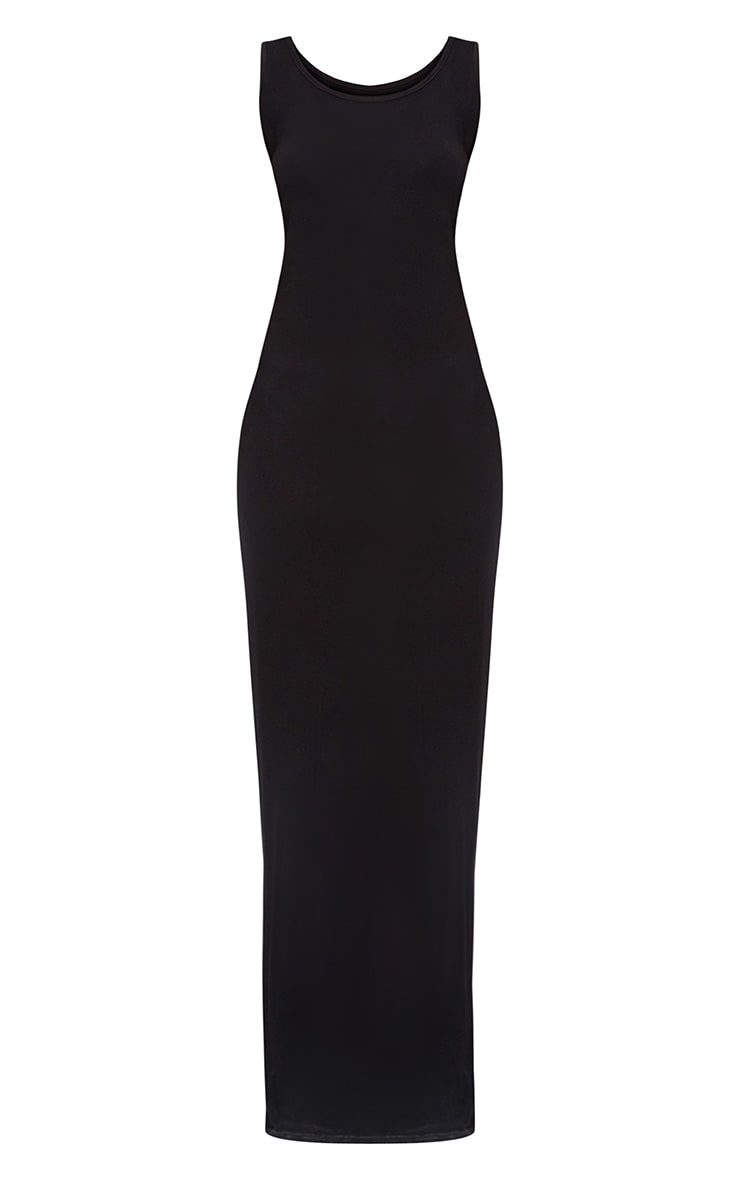 Black Racer Maxi Dress 3