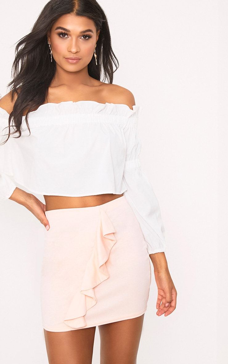 Blush Ruffle Mini Skirt 1