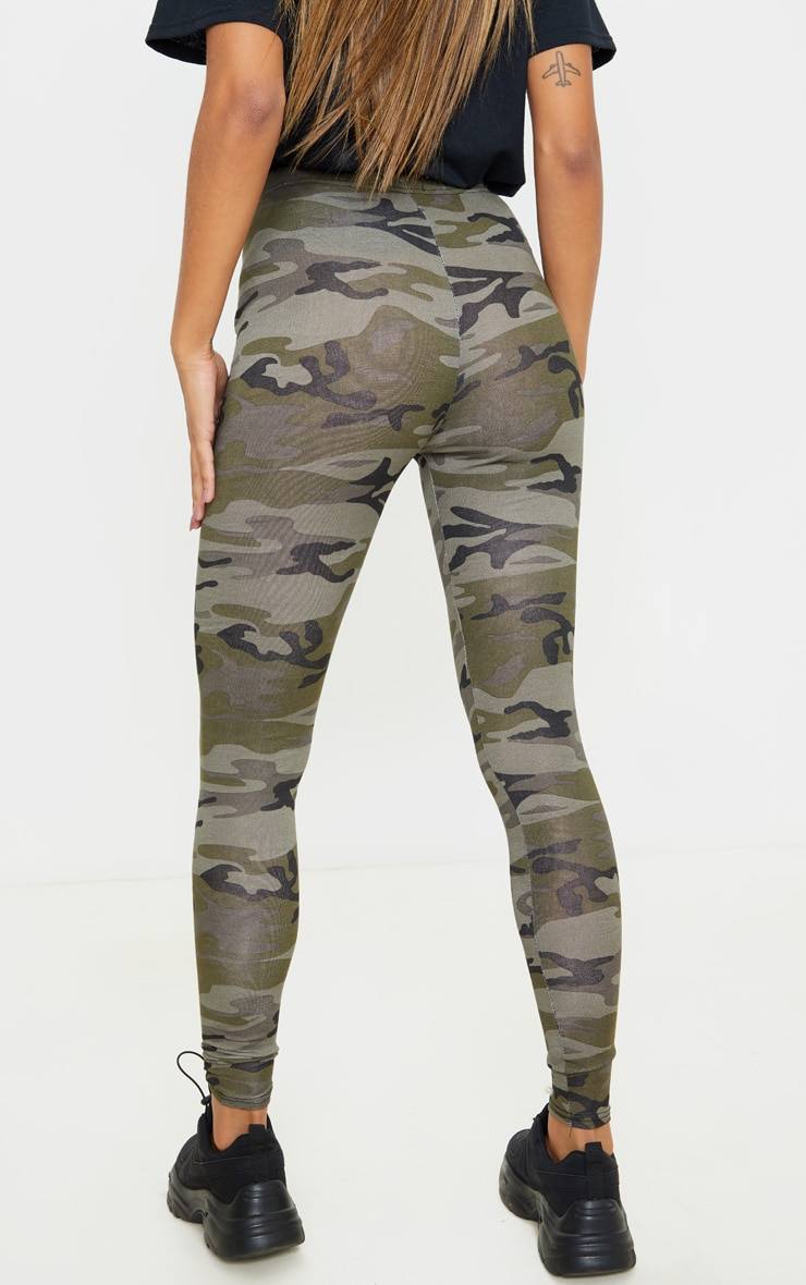 Khaki Camo Print Leggings 4