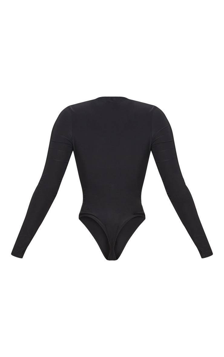 Shape Black Slinky Extreme Plunge Bodysuit 4