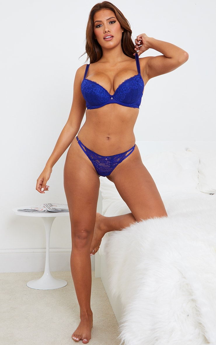 Dark Blue Ann Summers Sexy Lace Thong 3