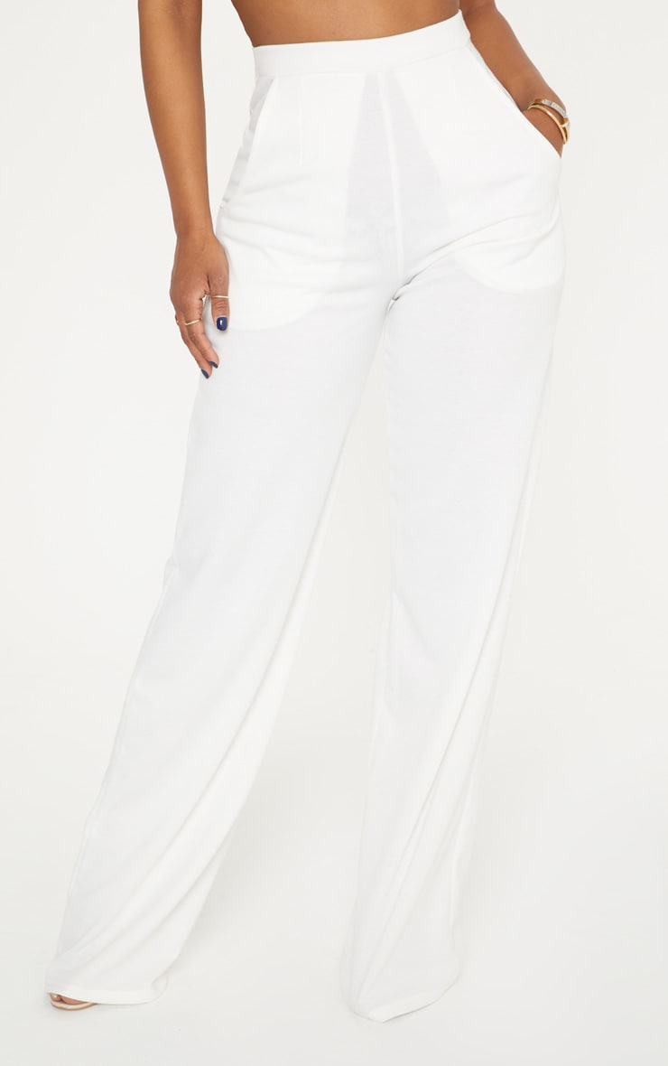 Shape White Wide Leg Trousers 2