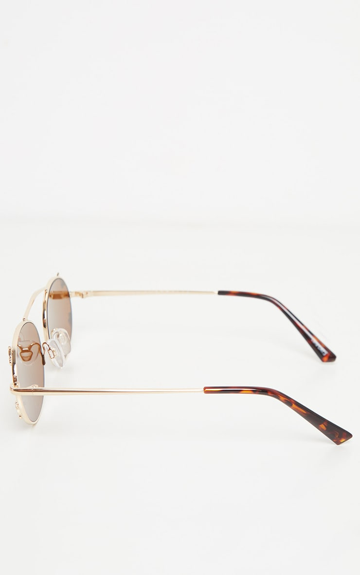 QUAY AUSTRALIA X FINDERS KEEPERS Gold Frame Brown Lens Sunglasses 4