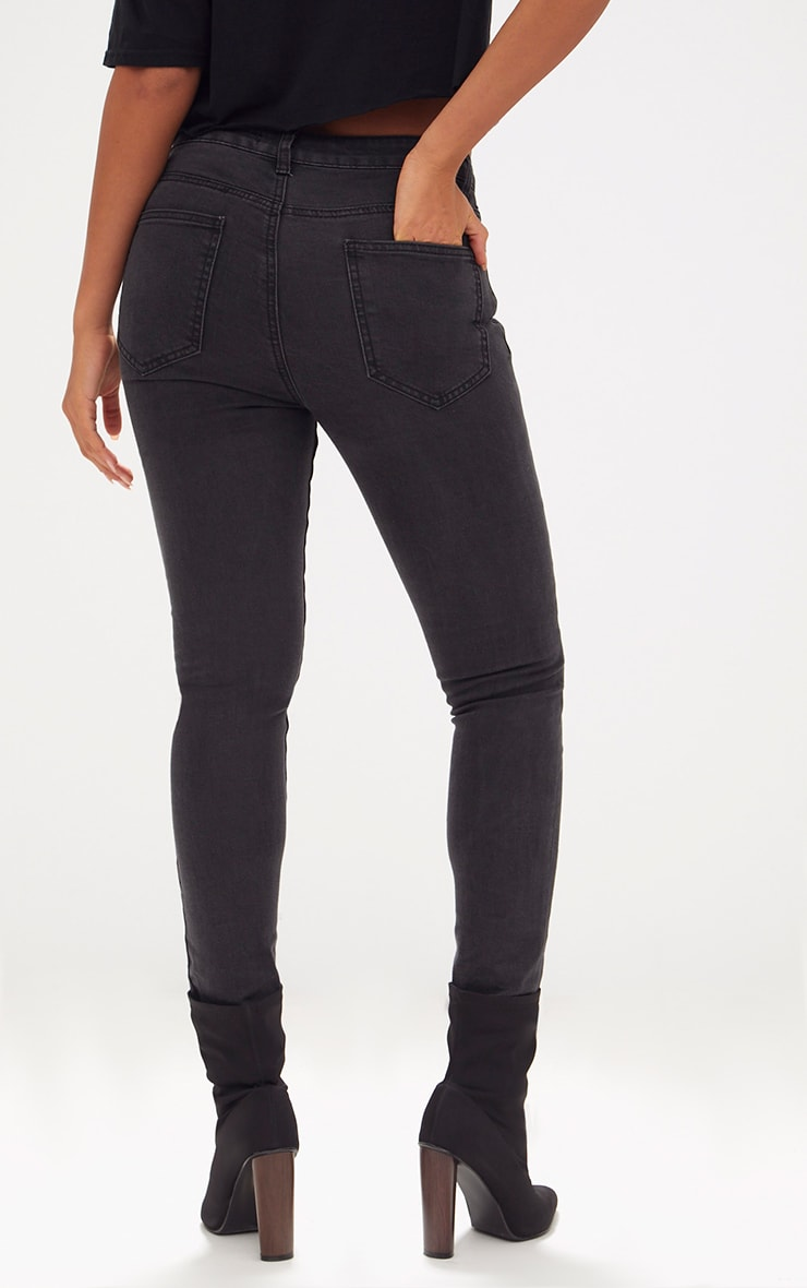 Charcoal High Waisted Skinny Jean 4