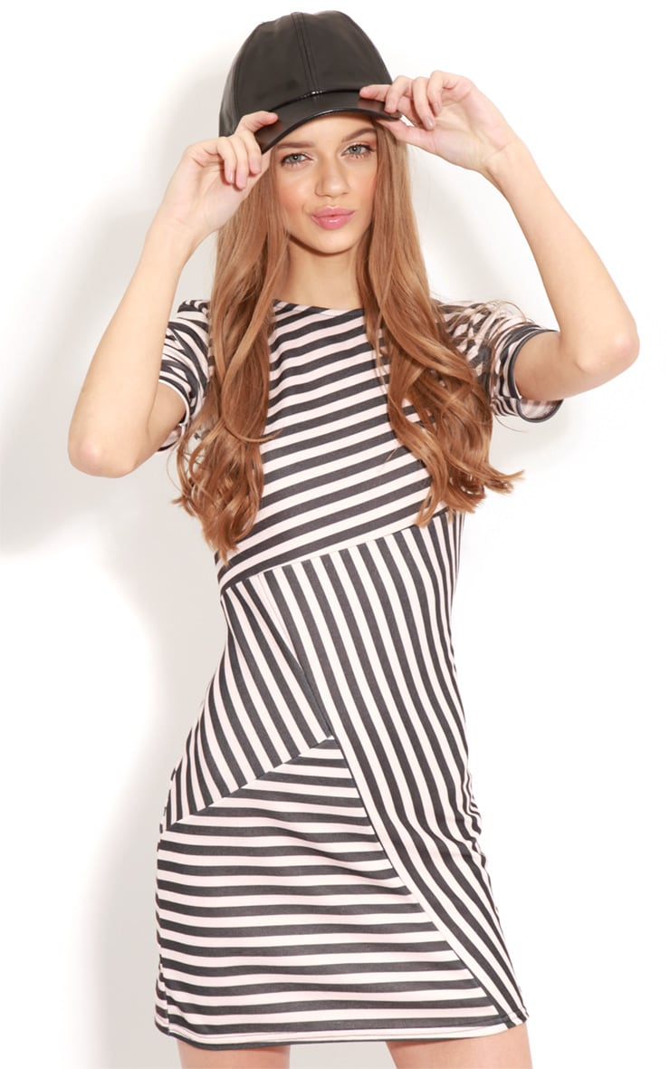 Electra Pink Stripe Bodycon Dress 4