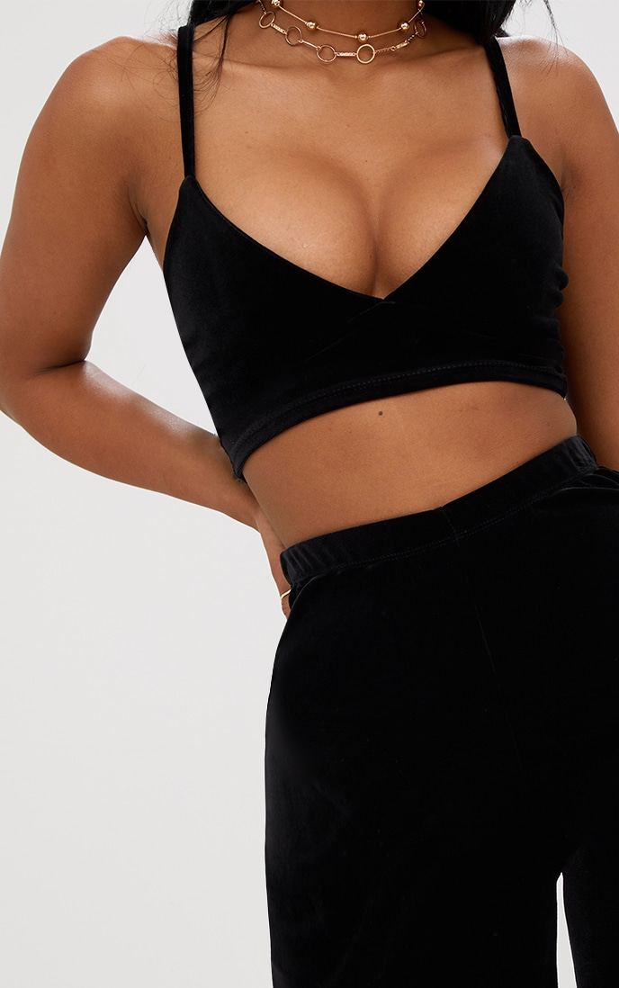 Shape Black Velvet Bralet 5