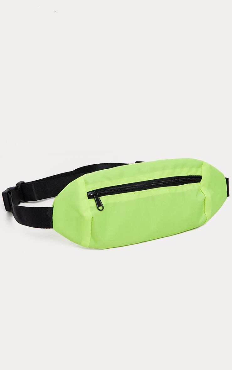 Lime Rectangle Bum Bag