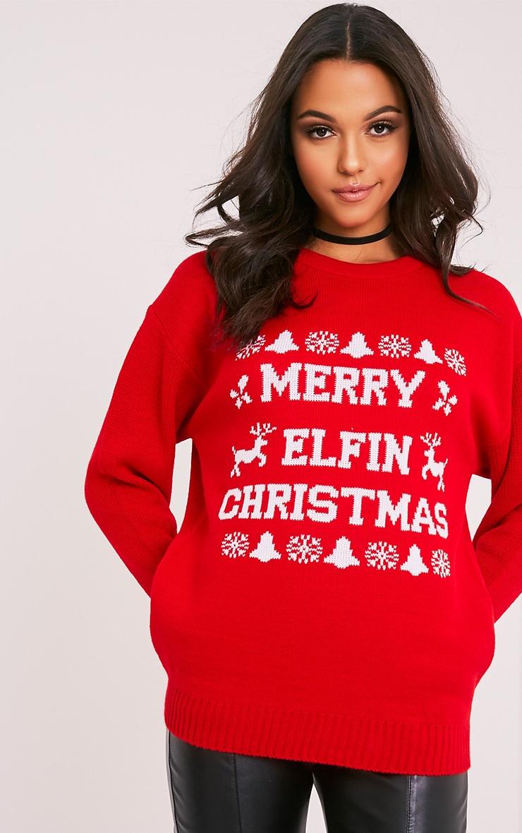 Merry Elfin Christmas Jumper 1
