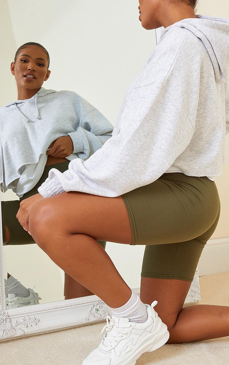 Khaki Basics Cycle Shorts 5