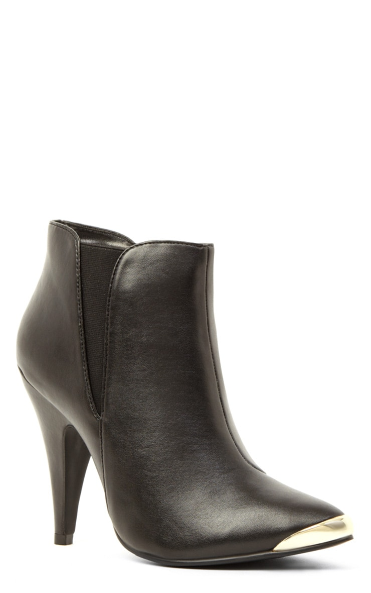 Anastasia Black Leather Ankle Boots 4