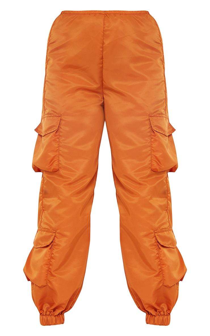 Petite Orange Dip Waist Cargo Pants 5