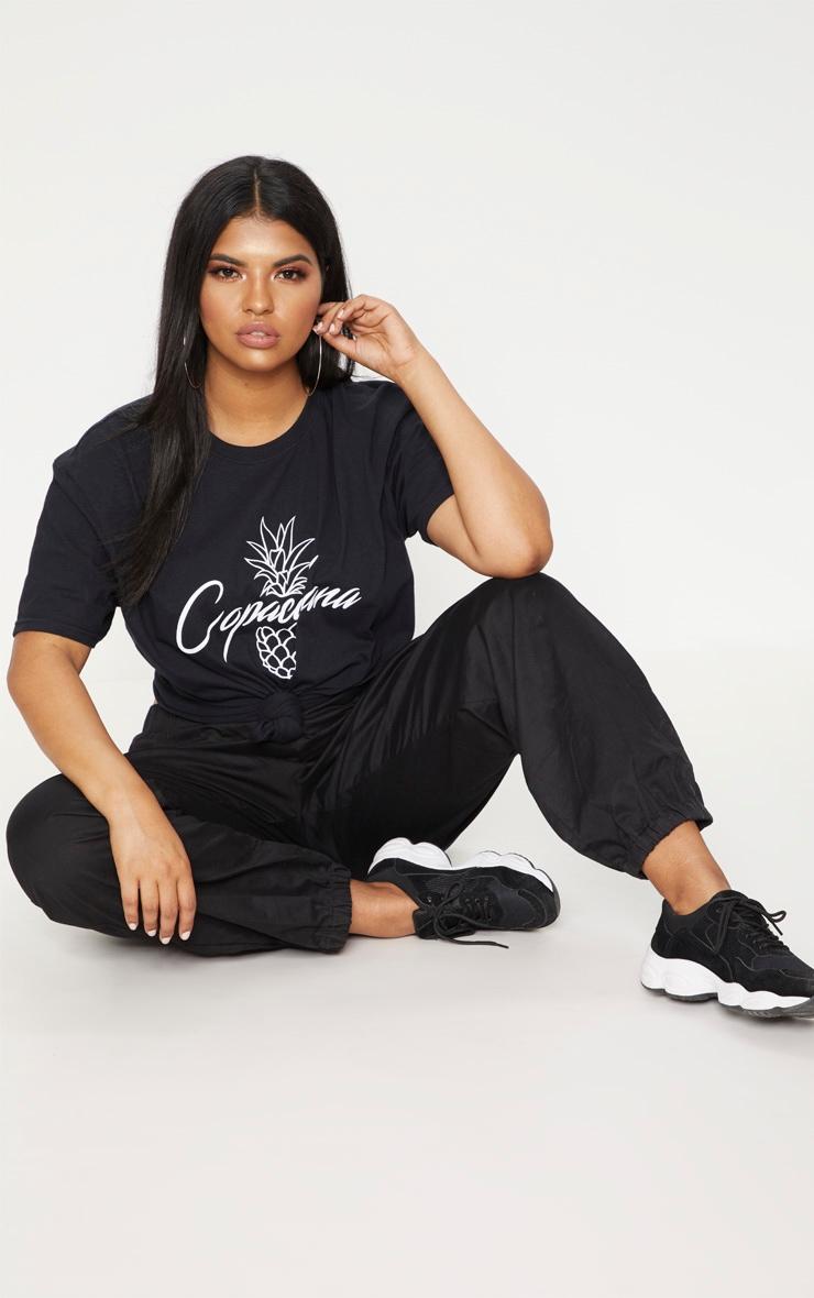 Plus Black Copacabana T-Shirt 4