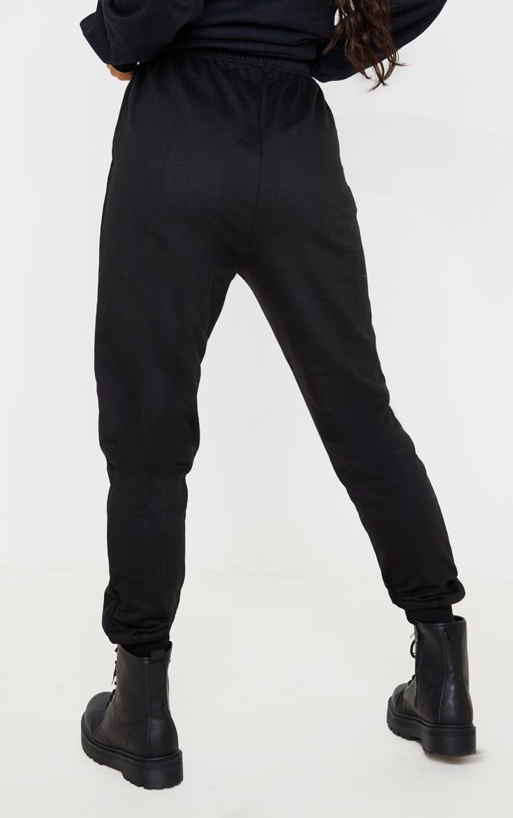 Jogging skinny noir profond 4