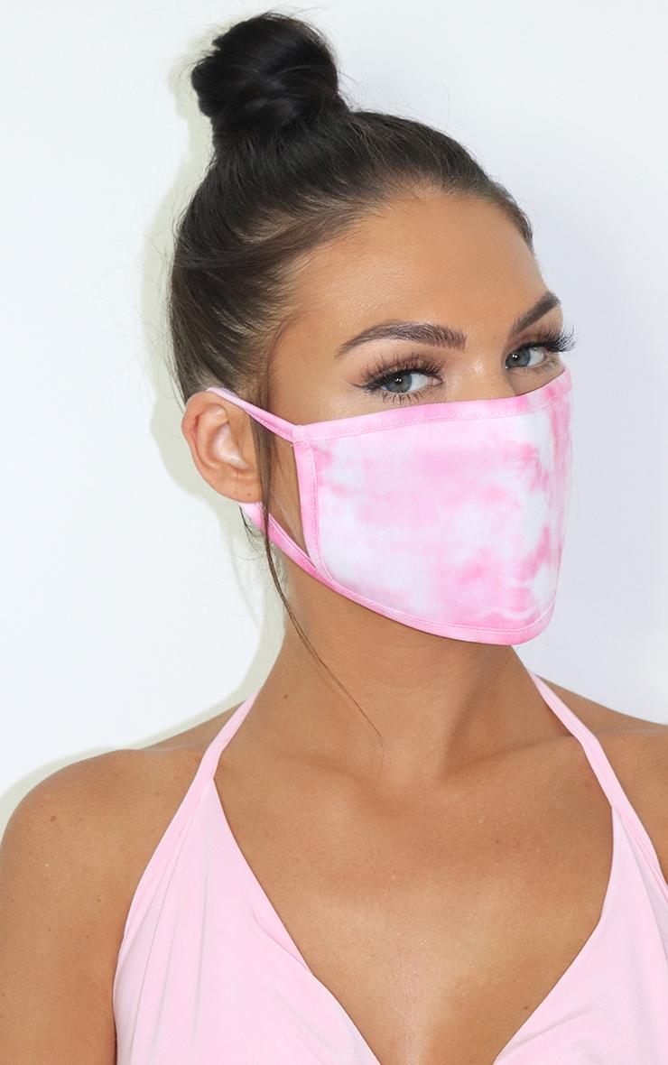 Pink Tie Dye Fashion Mask 1