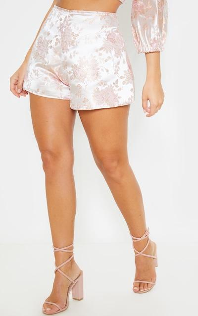 Pink Oriental Print Floaty Shorts