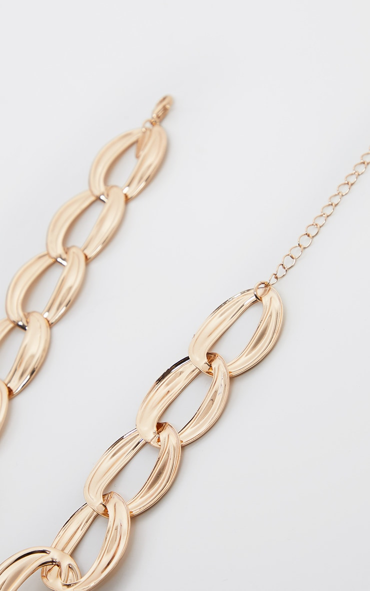 Gold Chunky Chainlink Necklace 3