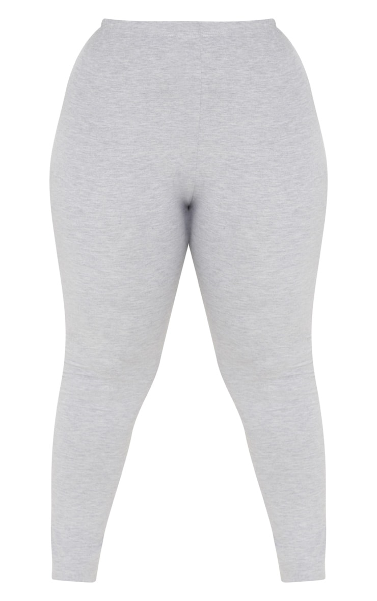 Plus legging en jersey gris 3