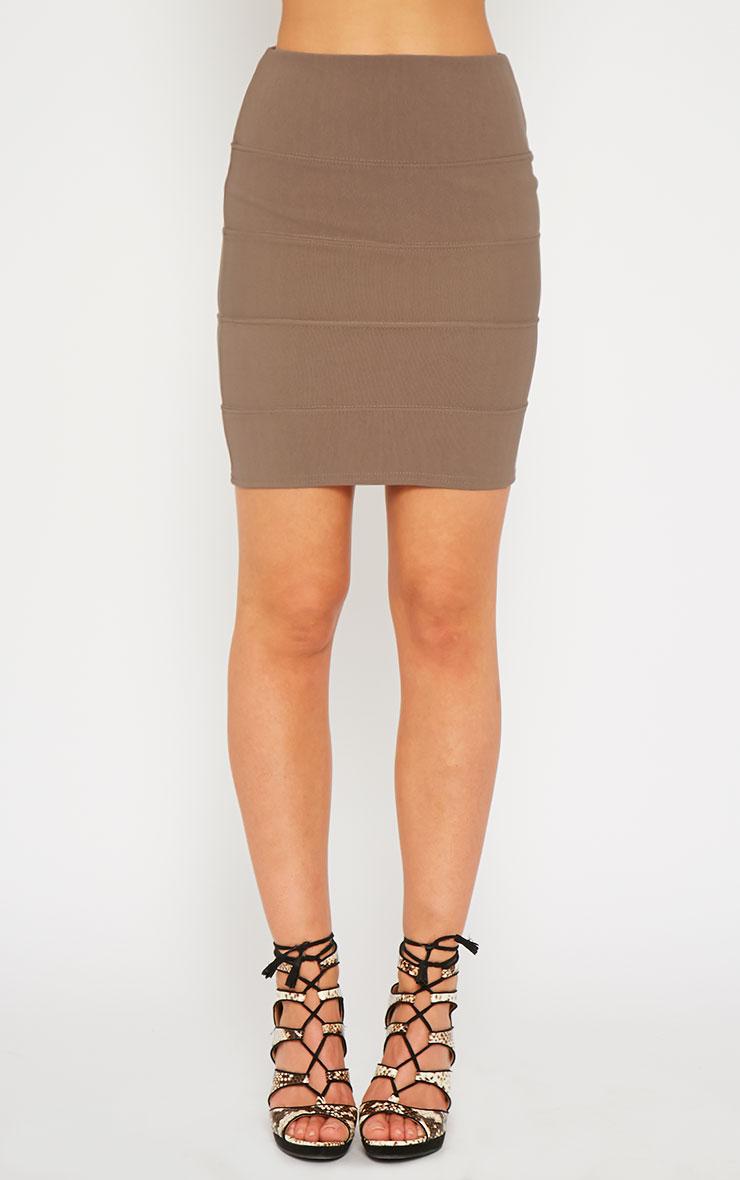Anel Mocha Bandage Mini Skirt 2