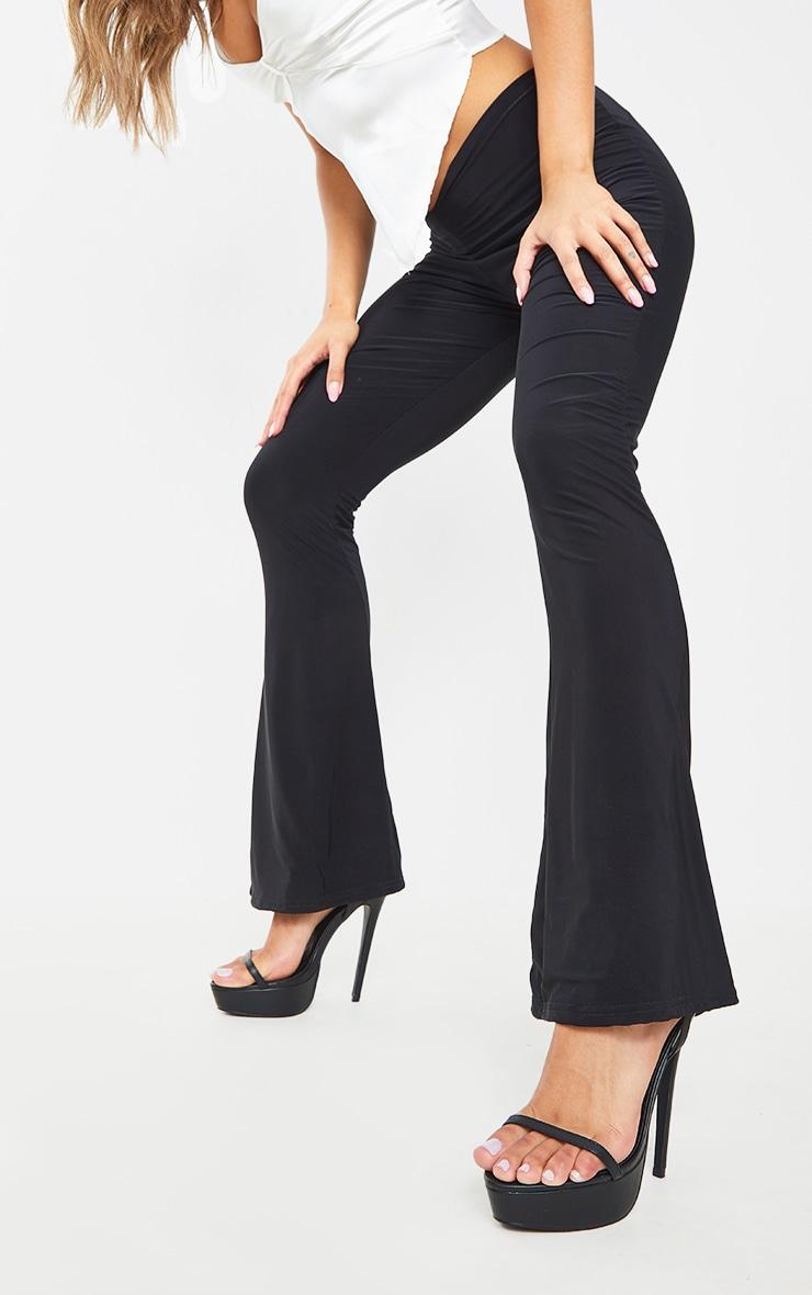 Black Wide Fit PU Platform Strappy High Heels 2