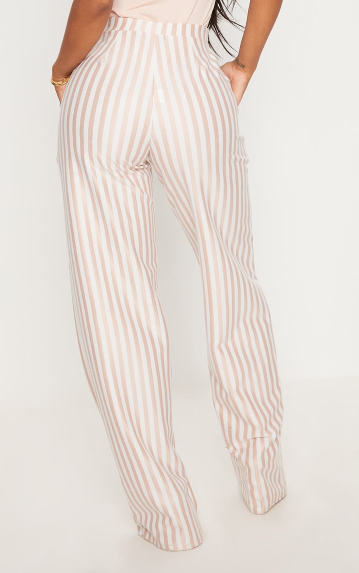 Shape White Striped Wide Leg Trousers 4