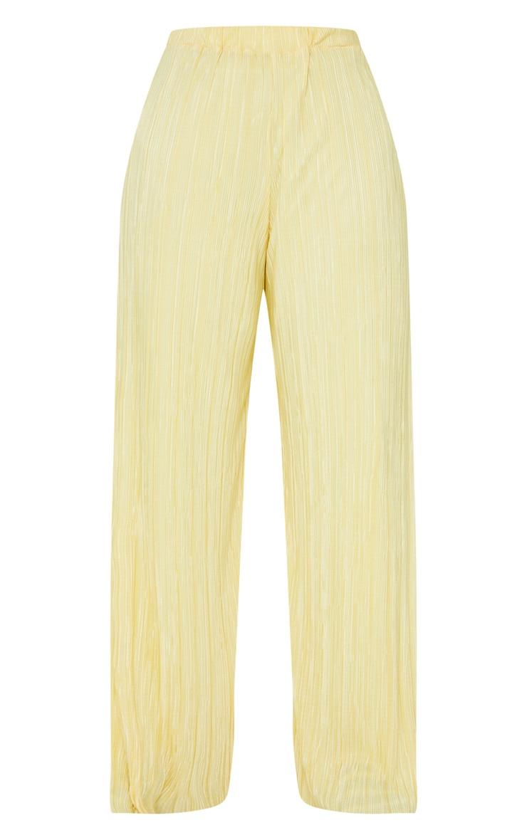 Lemon Split Leg Plisse Beach Pants 5