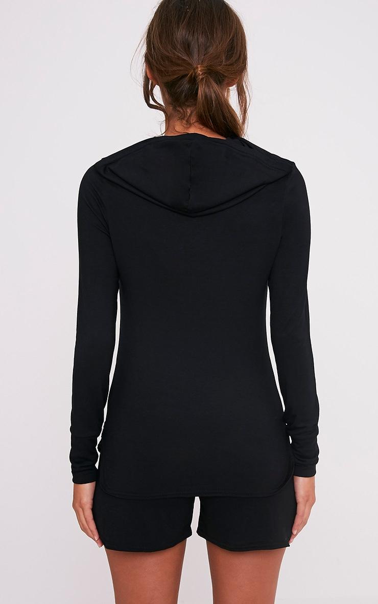 Basic sweat à capuche en jersey noir 2